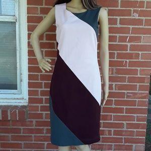 Banana Republic color block dress, sz 6